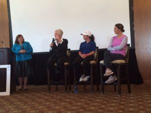 Moderating panel of the LPGA's Past, Present and future that included Hall of Famer Kathy Whitworth, Mo Green and Jaye Marie Green