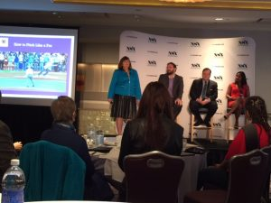 Moderating and participating in a Panel at the National Speakers Associations Media Lab In New York City