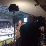2016 Olympic Shot Put Gold Medal Winner Michelle Carter being interviewed on NBC