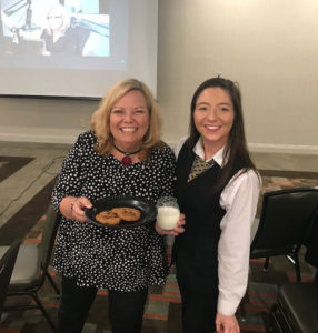 Milk & cookie surprise during workshop on Influential Listening at Drury Inn