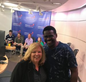 Kate with HOF Dallas Cowboy Michael Irvin
